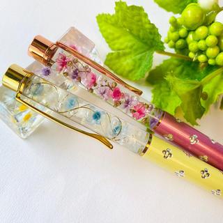 【替芯付き】お花いっぱい♡2本セット ペア☆ハーバリウムボールペン  (ペン/マーカー)