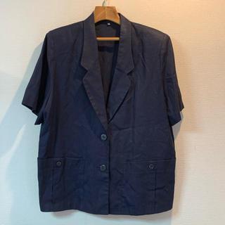 麻 ジャケット スカート 半袖 ノーブランド シャツ 大きいサイズ 17号