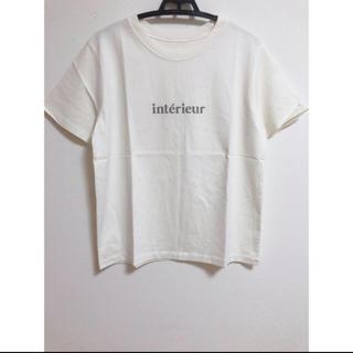 IENA - 新品 イエナ iena interieur ロゴ Tシャツ