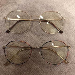 ジーユー(GU)のファッショングラス ジーユー ブルーライト カット メガネ (サングラス/メガネ)