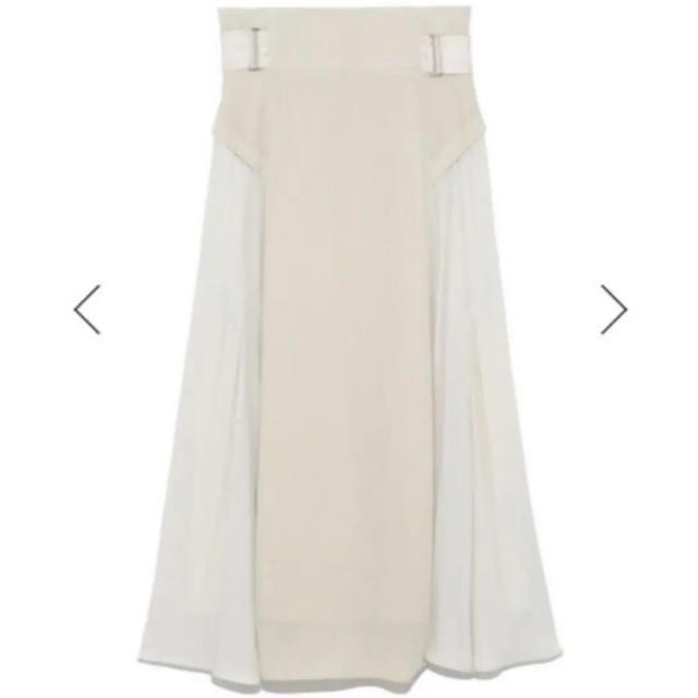 snidel(スナイデル)のSNIDEL スイッチングスカート IVR レディースのスカート(ロングスカート)の商品写真