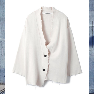perverze Crash Midi Cardigan / White(カーディガン)