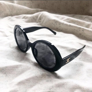 CHANEL - ヴィンテージ クロ 黒 丸サングラス