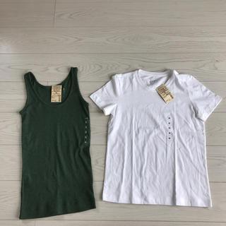 MUJI (無印良品) - 無印良品クールネック半袖Tシャツ新品未使用タグ付きタンクトップMサイズmuji