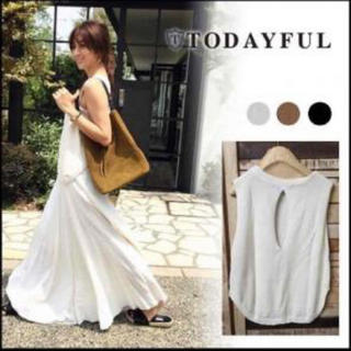 トゥデイフル(TODAYFUL)のtodayful Back Slit Sleeveless Kint (ニット/セーター)