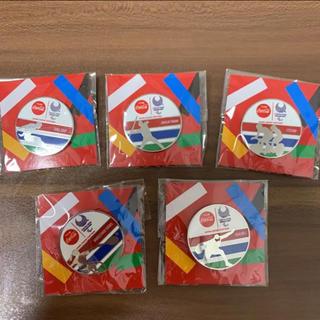 コカ・コーラ - コカコーラ ピンバッジ パラリンピック オリンピック 5種セット