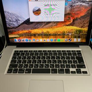 マック(Mac (Apple))のmacbook  pro 15インチ mid2012(ノートPC)