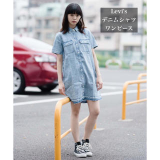 Levi's - 【美品】LEVI'S デニムシャツワンピース  Mサイズ
