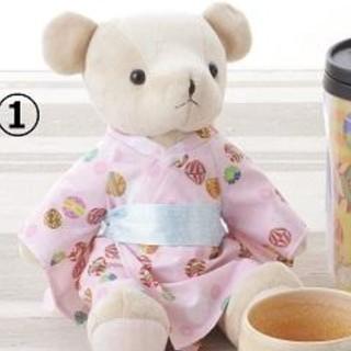 タリーズコーヒー(TULLY'S COFFEE)の新品 タリーズコーヒー エリア限定 タリーズテディ KIMONO 着物 ベアフル(ぬいぐるみ)