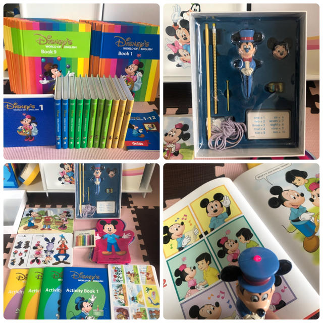Disney(ディズニー)のお買い得  ディズニー英語システム  DWE ミッキパッケージ+G キッズ/ベビー/マタニティのおもちゃ(知育玩具)の商品写真
