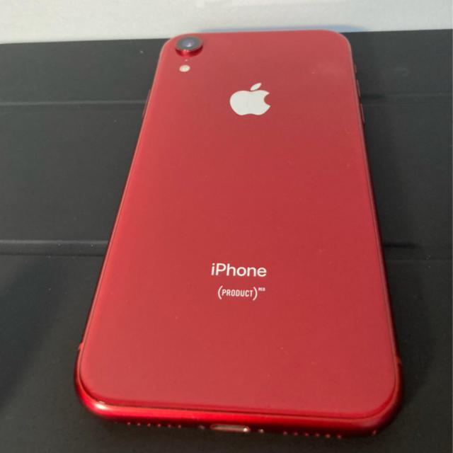 iPhone(アイフォーン)のiPhoneXR 64GB product RED 本体 SIMロック解除 スマホ/家電/カメラのスマートフォン/携帯電話(スマートフォン本体)の商品写真