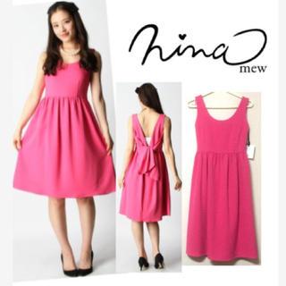 ニーナミュウ(Nina mew)の定価25000円♡新品バックリボンワンピ(ミディアムドレス)