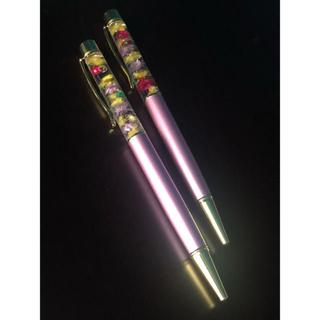 ハーバリウム ボールペン 2本 ピンク系 ほぼ新品(その他)