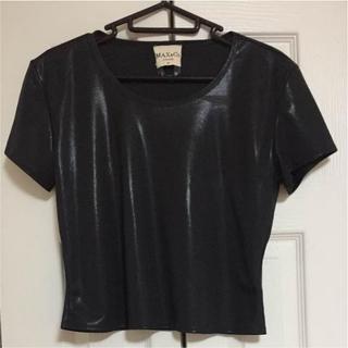 マックスアンドコー(Max & Co.)の冷んやり❤️光沢のある黒※2点ご購入にて、お値引き致します(#^.^#)(シャツ/ブラウス(半袖/袖なし))