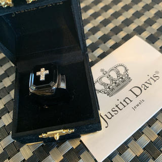ジャスティンデイビス(Justin Davis)の限定◆新品◆JUSTIN DAVIS◆EMINEM RING◆19号◆ブラック◆(リング(指輪))