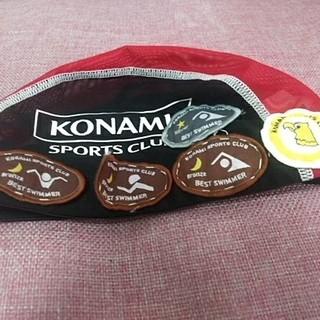 コナミ(KONAMI)のKONAMI 水泳帽 Lサイズ(マリン/スイミング)