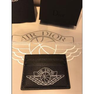 ディオール(Dior)の【Dior】店頭限定 AIR DIOR ジョーダンコラ カードケースブラック(名刺入れ/定期入れ)