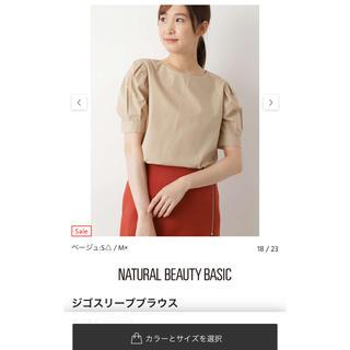 NATURAL BEAUTY BASIC - シフォンブラウス 新品