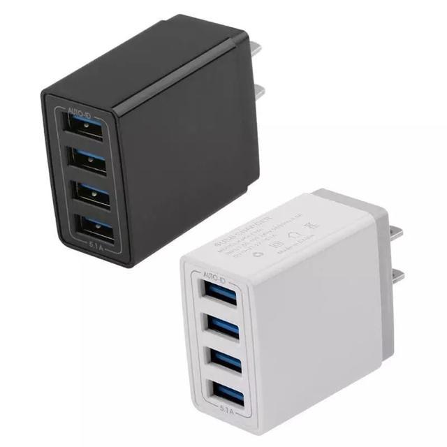 USBポート アダプター コンセント 四口 4つ同時 スマホ/家電/カメラの生活家電(変圧器/アダプター)の商品写真