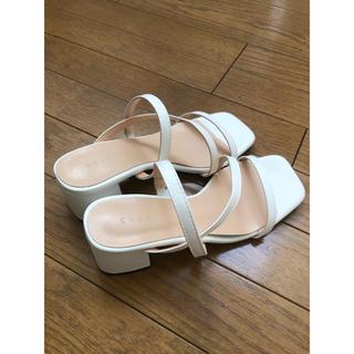 DIANA - chaakan shoes 白 ホワイトストラップサンダル 22.5