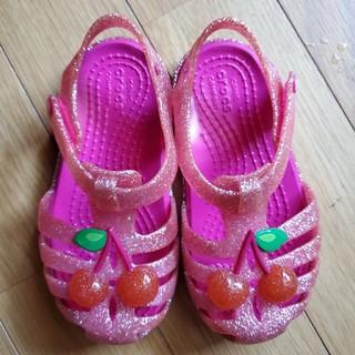 クロックス(crocs)のクロックス 子供靴 サンダル C7 14〜15センチ(サンダル)