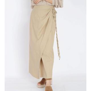 アングリッド(Ungrid)のungrid デザインラップマキシスカート(ロングスカート)