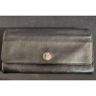 クロムハーツ(Chrome Hearts)のクロムハーツ 財布 ジュディウォレット ブラックヘビーレザー クロスボタン(長財布)