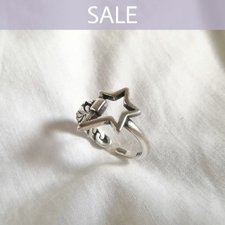【 数量限定SALE 】925 star chain ring  *
