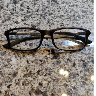 レイバン(Ray-Ban)の【美品】Ray-Ban ブラウン×シルバー セルフレーム眼鏡フレーム(サングラス/メガネ)