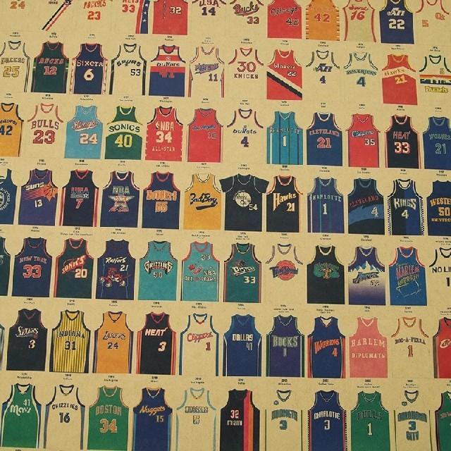 ☄ラスト1点☄✧大人気✧NBAポスター✧レプリカジャージー✧1921〜2014✧ スポーツ/アウトドアのスポーツ/アウトドア その他(バスケットボール)の商品写真