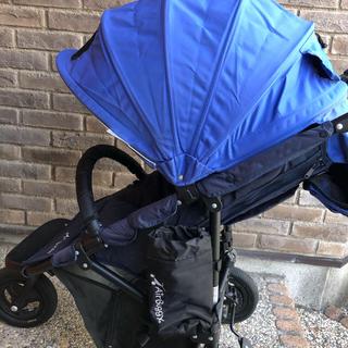 エアバギー(AIRBUGGY)のエアバギー ココ ブルー ☆ 替えシートなど付属品多数(ベビーカー/バギー)