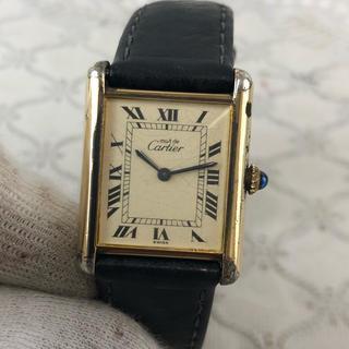 カルティエ(Cartier)の❤決算セール❤ ヴェルメイユ 時計 アナログ レザーベルト 腕時計 メンズ 金(腕時計)