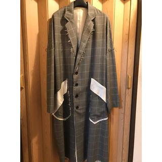 ヨウジヤマモト(Yohji Yamamoto)のsulvam サルバム 18aw グレンチェックコート(チェスターコート)