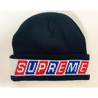 シュプリーム(Supreme)のsupreme シュプリーム ロゴ ビーニー ニット帽(ニット帽/ビーニー)