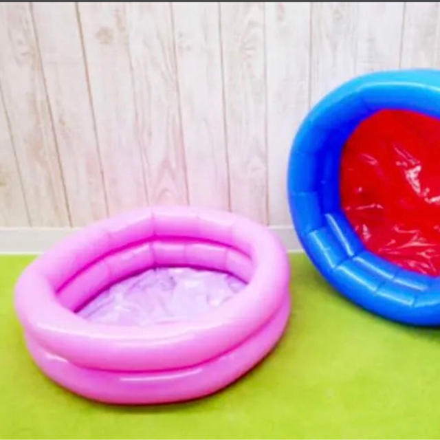 新品☆☆ ビニールプール   キッズプール (ピンク) スポーツ/アウトドアのスポーツ/アウトドア その他(マリン/スイミング)の商品写真