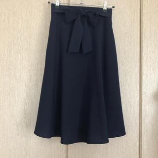 ロペピクニック(Rope' Picnic)のROPE PICNIC リボン付きフレアスカート(ひざ丈スカート)
