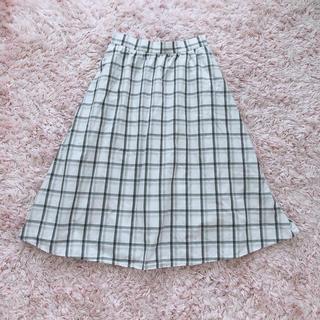 GU - +゚。* ジーユー  ミモレ丈 チェック スカート XL  *。゚+