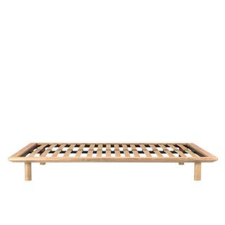 MUJI (無印良品) - 無印良品 セミダブル ベッドフレーム・木製脚・ベッドボードセット オーク材