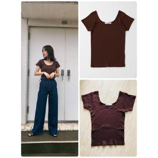 マウジー(moussy)のmoussy マウジー SCOOP NECK TEE 数回使用(Tシャツ(半袖/袖なし))