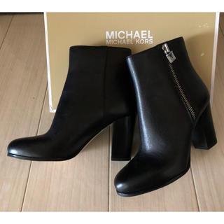 マイケルコース(Michael Kors)のMICHAEL KORS/レザーブーツ(24.0)(ブーツ)