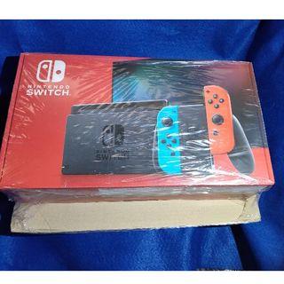 ニンテンドースイッチ(Nintendo Switch)の Nintendo Switch JOY-CON(L)ネオンブルー/(R)ネオン(家庭用ゲーム機本体)