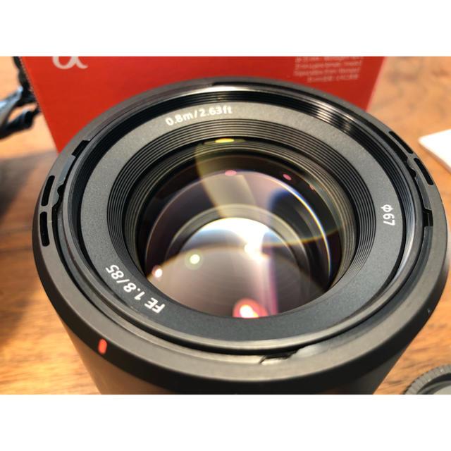 SONY(ソニー)の【Yasu様専用】SEL85F18 FE85mm F1.8 スマホ/家電/カメラのカメラ(レンズ(単焦点))の商品写真