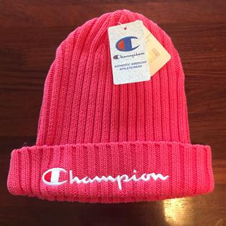 チャンピオン(Champion)のchampion ニットキャップ ピンク❤️(ニット帽/ビーニー)