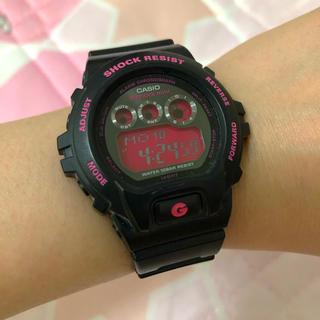 ジーショック(G-SHOCK)のCASIO g-shock mini ブラック×蛍光ピンク(腕時計(デジタル))