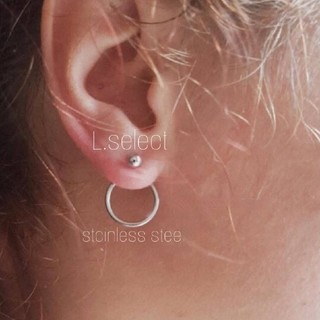 ENFOLD - 11.stainless back circle pierce【silver】