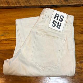 ラフシモンズ(RAF SIMONS)のRAF SIMONS デニムパンツ ホワイト(デニム/ジーンズ)