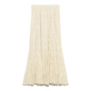 フレイアイディー(FRAY I.D)のマーメイドレーススカート ホワイト 1(ロングスカート)