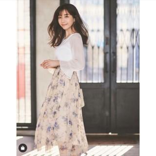 MISCH MASCH - 田中みな実着用ミッシュマッシュ☆花柄チュールミディスカートS