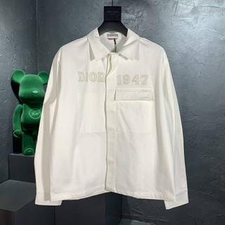 ディオール(Dior)のDior コットンデニム オーバーシャツ 上品 ホワイト(シャツ)