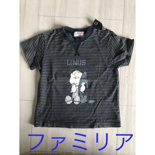 ファミリア(familiar)のファミリア スヌーピー コラボTシャツ ボーダー(Tシャツ/カットソー)